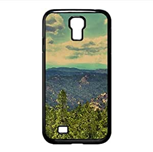 Wooded Mountains Watercolor style Cover Samsung Galaxy S4 I9500 Case (Mountains Watercolor style Cover Samsung Galaxy S4 I9500 Case)