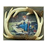 """RIVER'S EDGE 8"""" x 10"""" Picture Frame 511 - Barnwood Antlers"""