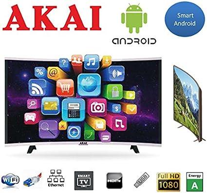 Akai TV LED 43 FHD Curved Digital Terrestre DVB-T2 Smart TV WiFi: Amazon.es: Electrónica