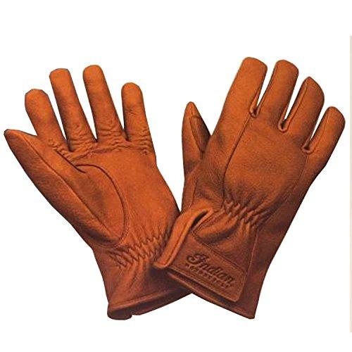 Indian Motorcycle New OEM Brown Deerskin Leather Strap Gloves, Medium, 286867703