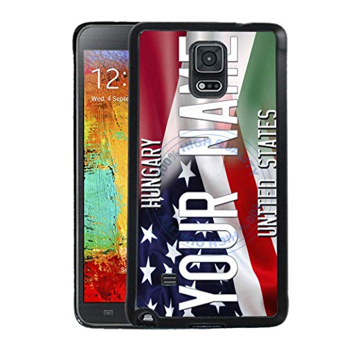 - BRGiftShop Personalize Your Own Mixed USA and Hungary Flag Rubber Phone Case For Samsung Galaxy Note IV 4