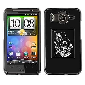Shell-Star Art & Design plastique dur Coque de protection rigide pour Cas Case pour HTC Desire HD / G10 / inspire 4G( Grey Top Hat Guns Rock Roll Metal )