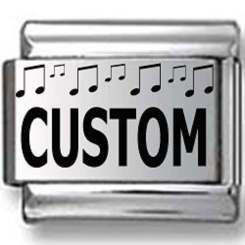 Custom Musical Notes Laser Italian Charm