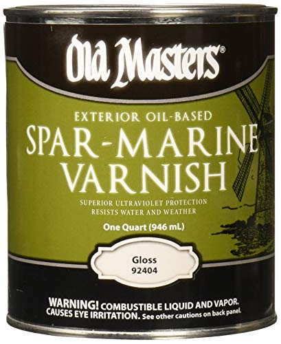 OLD MASTERS 92404 Spar Marine Varnish, Gloss