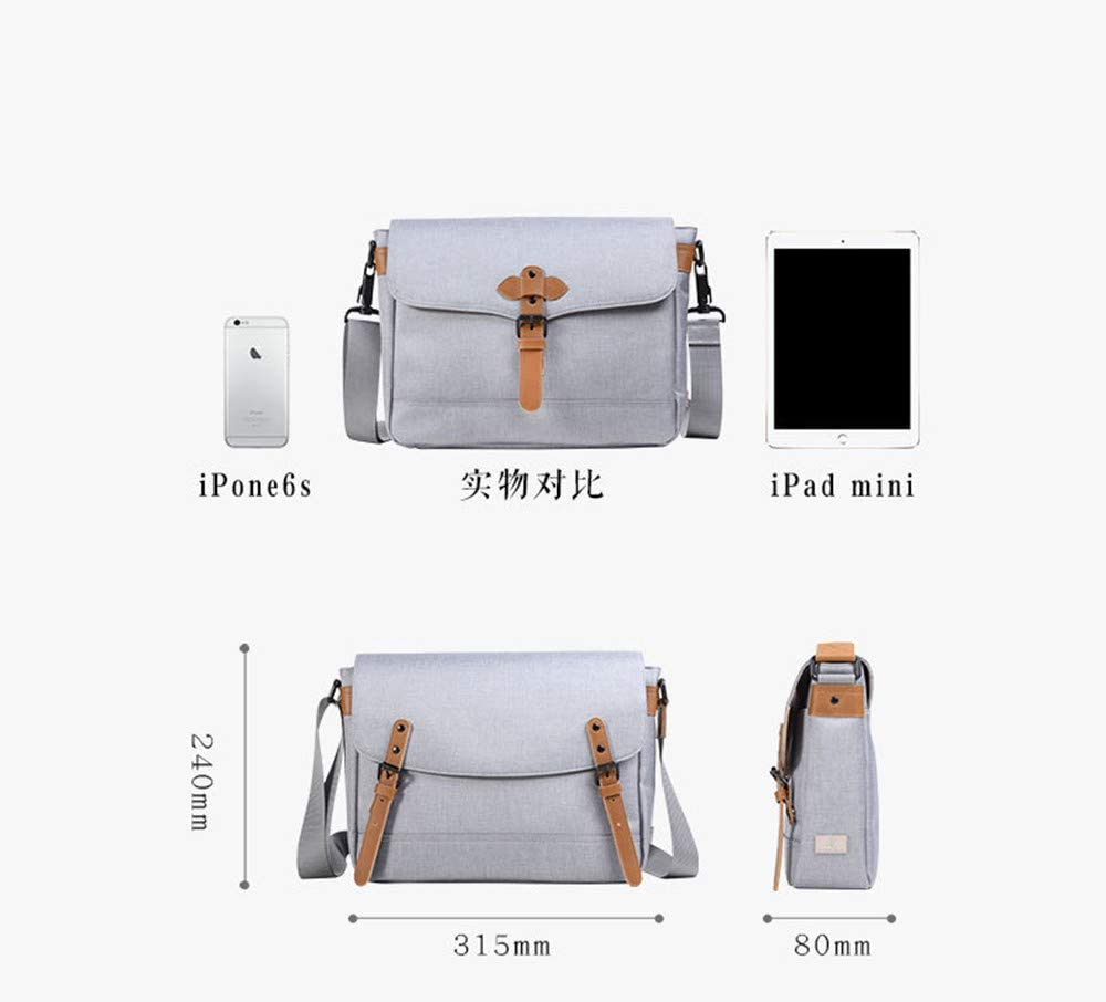 Zhouminli Vintage Leather Tote Briefcase Mens Business Work Briefcase Carrying Laptop Books Handmade Antique Waterproof Material Nylon Crossbody Gift
