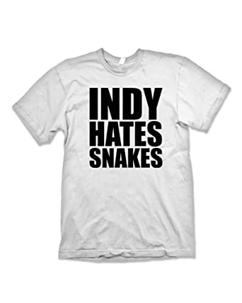 f7ad651ca Madhatters Tee Party Indiana Jones 'Indy Hates Snake's T-Shirt Inspired By  Indiana Jones