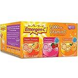 Emergen-C 1,000 mg Vitamin C Dietary Supplement Drink Mix, Super Orange/Raspberry/Tagerine, 4 Pacck (360 Packs Total )