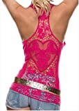 Best FQHOME Chemises - FQHOME Womens Rosy Crochet Lace Back Tank Top Review