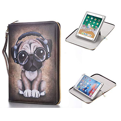 (Anvas Universal Case for 9.7-10.1 Inch Tablet, Synthetic Leather 360 Rotating Standing Document Pocket Folio Portable Wallet Case for All 9.7 10.1 10.5 Inch Tablet,Cute Dog)