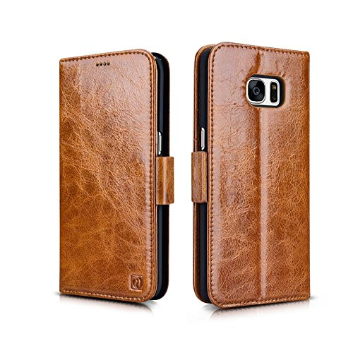 2 in 1 Leather Wallet Flip Cover Case For Samsung Galaxy S7(Brown) - 5