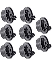 Durable 165314 Dishwasher Lower Rack Wheel replacement by Blue Stars - Exact Fit for Bosch & Kenmore Dishwasher - Pack of 8