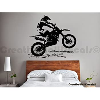 Amazoncom Dirtbike wall decal removable sticker racing motocross