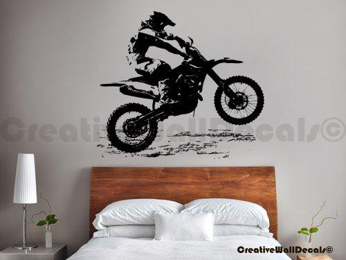 Vinyl Wall Decal Sticker Dirty Motocross Bike Moto Kids Gift Bedroom R1737