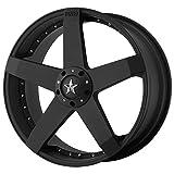 hyundai accent wheel center cap - KMC Wheels KM775 Rockstar Car Matte Black Wheel (17x7.5