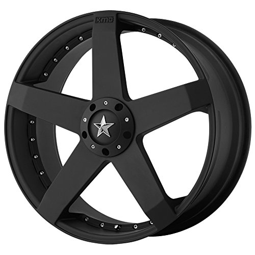 KMC Wheels KM775 Rockstar Car Matte Black Wheel (17x7.5