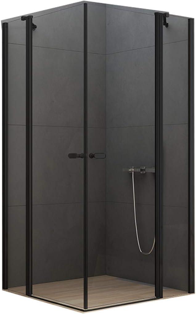 Cabina de ducha New Soleo Black 90 – 120 x 90 – 120 x 195 cm con canal de ducha: Amazon.es: Bricolaje y herramientas