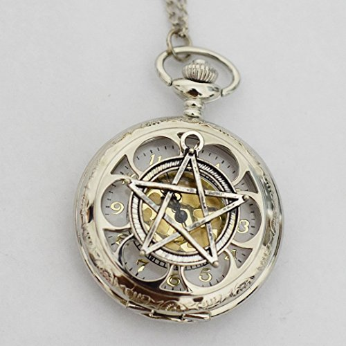 Wiccan Pentagram Pocket Watch Steampunk ()