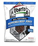 Oberto All Natural Peppered Beef Jerky, Hign in Protein 3.25 oz. - 2 Pack