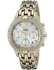 Seiko Womens SSC876 Analog Display Japanese Quartz Gold Watch