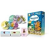 Spanish for Kids - Learning Spanish for Children DVD Set (6 DVDs), Spanish flashcards (150 cards)