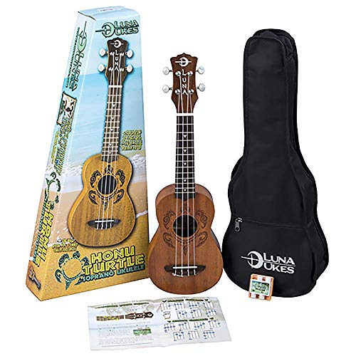 Luna Honu Tribal Turtle Soprano Ukulele Pack (Best Soprano Ukulele Under 100)