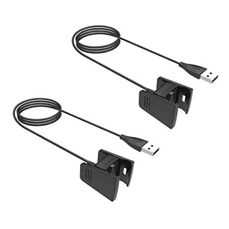 Amazon.com: For Fitbit Charge 2 Charger, KOBWA 2 Pack 3.3ft ...
