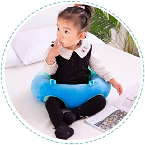 Bozaap Infant Safe Sitting Chair Comfortable Infant Soft Plush Floor Support Seat Baby Sofa Sitting Chair Cushion Support Seat Protector Cushion Sit and Play Positioner Sitting