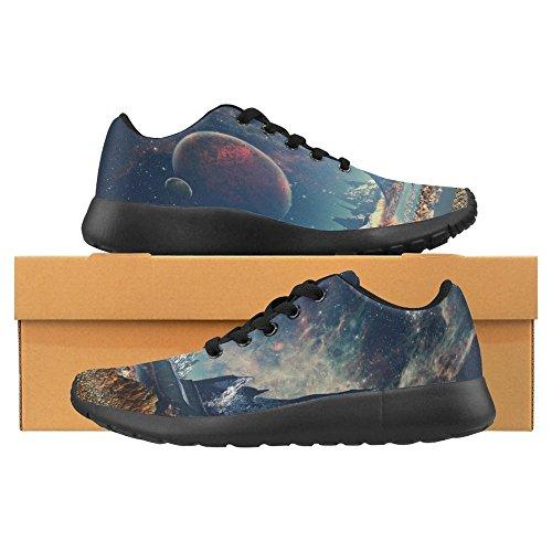 Interessante Womens Jogging Running Sneaker Leggero Go Easy Walking Casual Comfort Scarpe Da Corsa Pianeta Alieno Con Una Luna E Montagne Multi 1