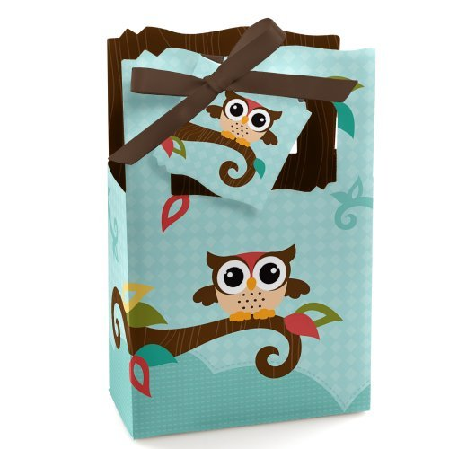 Owl - Baby Shower or Birthday Party Favor Boxes - Set of -