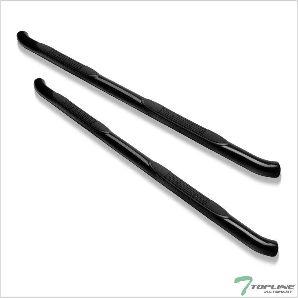 Topline Autopart 3 Black Side Step Nerf Bars Rail Running Boards hd For 09-15 Honda Pilot