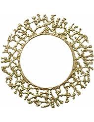 Kim Seybert Round Gold Molten Charger Accent Placemat Aluminum 13 5 D