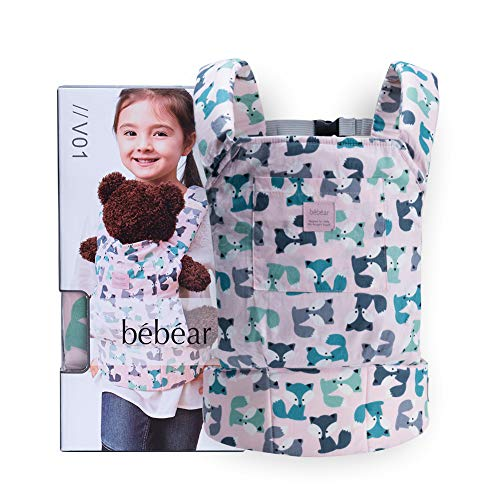 Bebamour Baby Doll Carrier for Kids Front and Back Carrier Original Cotton Baby Carrier for Doll for Boys & Girls (Pink)