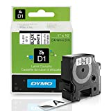 Dymo 45020 D1 High-Performance Tape Cartridge, 1'' x 23 ft, Black on White