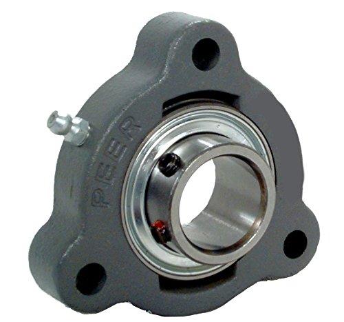 1-1//4 Center Length 1-1//4 Bore 2 1-1//4 Center Length Peer Bearing PER UCFB207-20 3 Bolt Flange Bracket Unit Relubricable Cast Iron 1-1//4 Bore Wide Inner Ring Set Screw Locking Collar Single Lip Seals 2