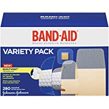 Band-Aid Brand Adhesive Bandage Variety Pack, Sheer and Clear Bandages, Assorted Sizes, 280 ct