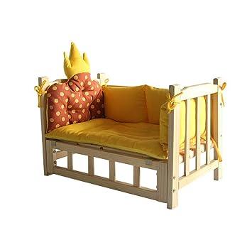 FF Cama de Perro Cama para Perros Cama de Madera Maciza Lavable Cama de Perro para Nido Grande, Mediano y pequeño (Color : Orange, Size : L): Amazon.es: ...