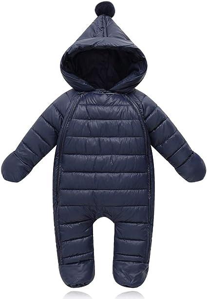 G-Kids Baby Schneeanz/üge Winter Overall Strampler mit Kapuze M/ädchen Jungen Winterjacke Jumpsuit 0-18 Monate
