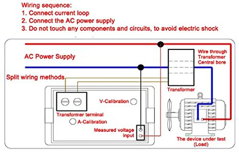 51Q3KWOxU7L._SX466_ amazon com drok ac 100 300v 100a digital voltage current Basic Electrical Wiring Diagrams at bakdesigns.co