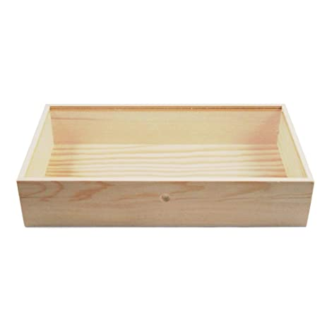 Amazoncom 15 Inch Wooden Glass Top Jewelry Display Box Accessory