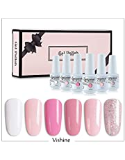 Vishine 6Pcs Soak Off LED UV Gel Nail Polish Varnish Nail Art Starter Kit Beauty Manicure Collection