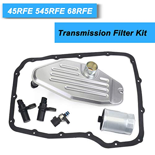 45RFE 545RFE 68RFE Transmission Sensors Set with 4WD Filter Kit Pan Gasket 1999-UP
