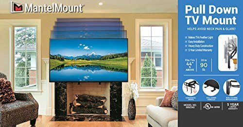 MantelMount MM340 Pull Down Fireplace TV Mount For 44''-80'' TVs Above Mantel by MantelMount (Image #1)