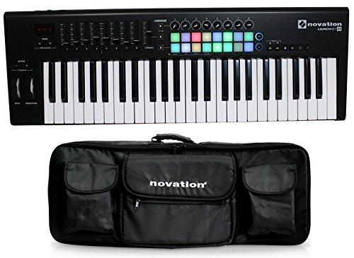 Novation LAUNCHKEY-49-MK2 49-Key USB MIDI Ableton Keyboard Controller+Carry Bag by Novation
