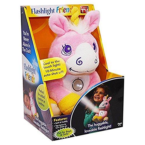 Flashlight Friends - The Huggable Loveable Childs Flash Light Pink Unicorn (Girls Flash)