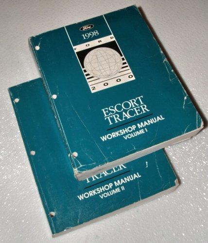 1998 Ford Escort Mercury Tracer Workshop Manuals (2 Volume Set)