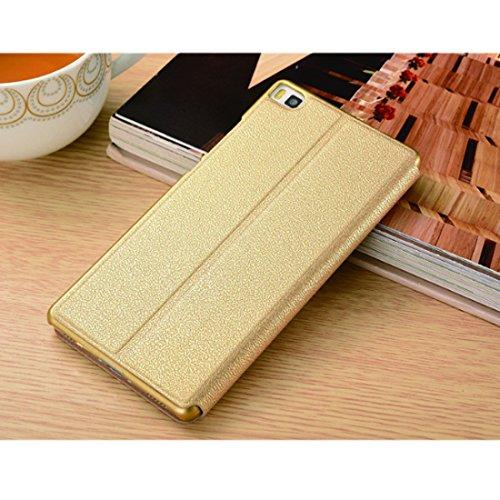 chiusa in Cover Huawei Pelle Portafoglio Case Flip Custodia gold Bookstyle Huawei 2017 Pu pelle con per 2017 P8 P8 Magnetica P8 Stand Cover Protettiva xnqTvSq6w