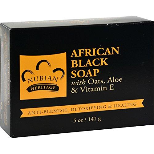 African Heritage Nubian Soap Black (Nubian Heritage Soap Bar African Black, 5 oz)