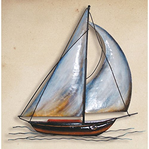 Wall Hanging Nautical Metal Sailboat