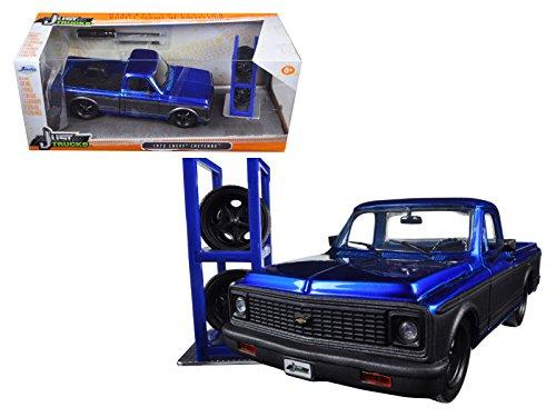 Pickup Cheyenne (1972 Chevrolet Cheyenne Blue/Matt Grey Pickup Truck