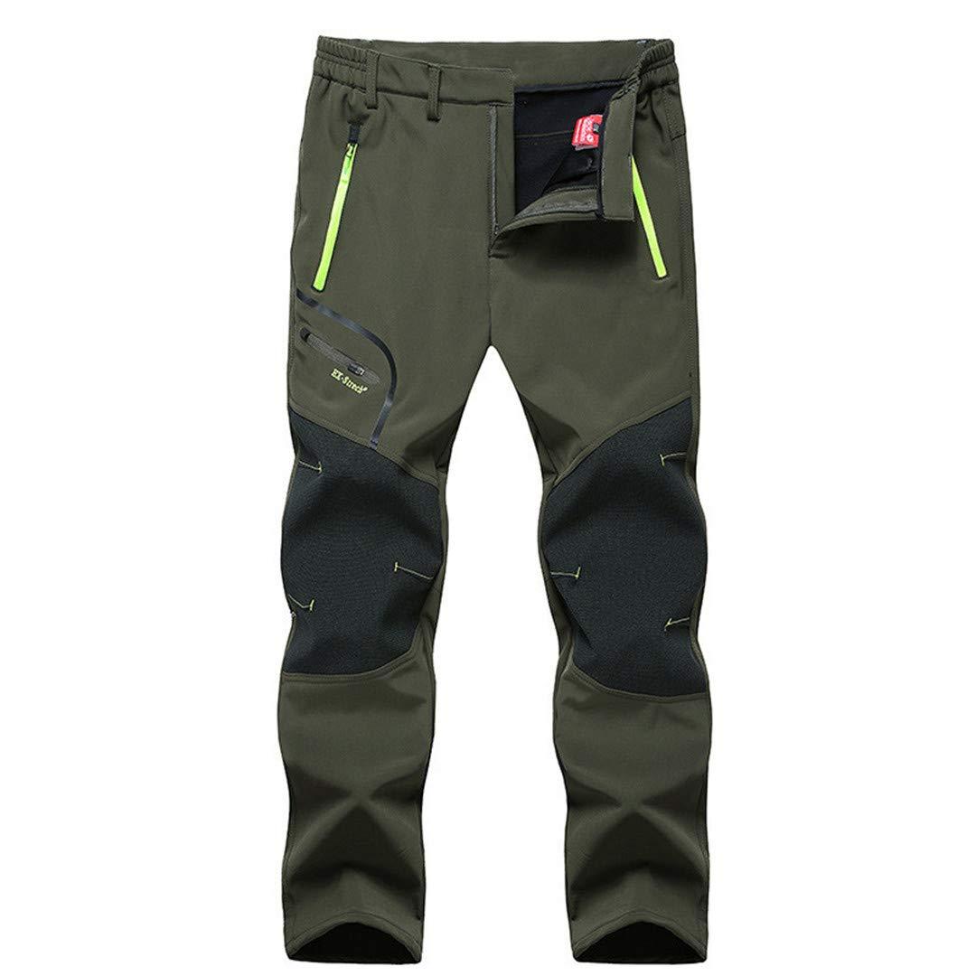 Hommes army vert 6XL Drying Den Pantalons imperméables pour Hommes en Plein air Randonnée en Plein air Pantalons de Camping Pêche Trekking Pantalons de Ski